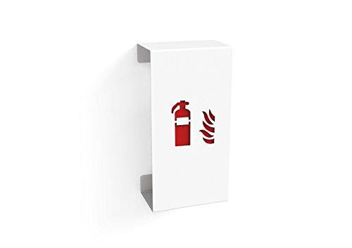 Konstantin Slawinski Fire Small / Feuerlöscherhalterung für Feuerlöscher bis max. 60cm in weiß / 30x20,2x65cm -