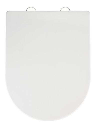 Wenko Calla Fix-Clip Asiento de Inodoro, Thermoplast, Blanco, 47x35.5x3 cm