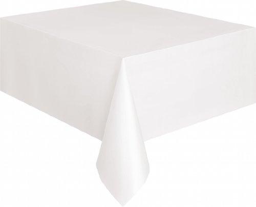 e Einfache Tischdecke 135cm x 270cm (Weiße Tischdecke)