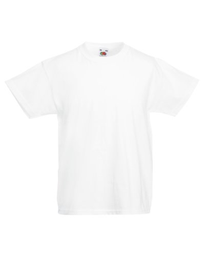 Fruit of the Loom Childrens/Kids Unisex Valueweight Short Sleeve T-Shirt (5-6) (White)