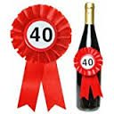 Trendagentur KEPPLINGER Botella Roseta 40cumpleaños-Botellas
