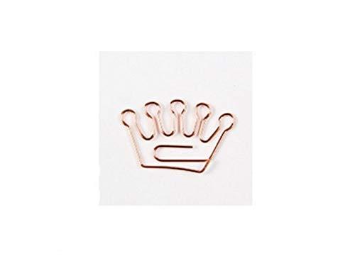 PanpA Tagebuch Zehn Stück Metall Lesezeichen Crown Clip Rose Gold Heftklammern Briefpapier Büroklammer für Büromaterial