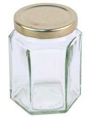 12oz Hex Honig Jar (84Pack mit Deckel)-Marmelade, Konserven,
