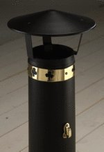 Narrow Boat Chimney 'Coolie' Cowls - Various Finishes Available (Black Powder Coated)