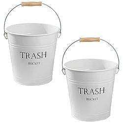 mDesign Corbeille à papier – poubelle de salle de bain – poubelle de cuisine idéal pour la salle de bain, le bureau, la cuisine ou la chambre à coucher – Contenance : 12,5L - Paquet de 2
