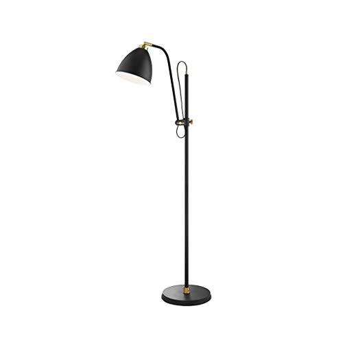 LED Stehlampe Einfache Modernes Design Vertikale Craft Stehleuchte - Shade Adjustable (Color : Black-28cm*160cm) -