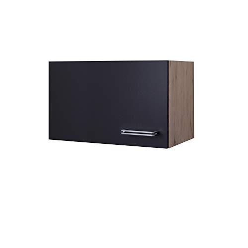 MMR Küchen-Kurzhängeschrank LONDON - Hängeschrank - Küchenschrank für Dunstabzugshaube - 1-türig - 60 cm breit, 32 cm hoch - Anthrazit