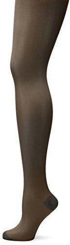 ELBEO Damen Glanz Fein Strumpfhose Rhythmus 20 Extraweit, 900185, Gr. 48 (Herstellergröße: 47-49), Grau (flanell 3775) (Flanell Glanz)