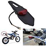 KaTur-Guardabarros trasero con luz trasera de freno LED para motocicleta de motocross,...