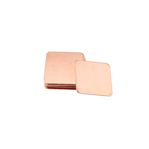 LouiseEvel215 10 stücke Reines Kupfer Messing Kühlkörper Shim Wärmeleitpad Barriere für Laptop Grafikkarte 15x15mm Schnelle Wärmeableitung