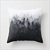 Trsdshorts Mountians Forest Pillow Cases 18 x 18 Inches Choice for Divan,Indoor,Dining Room,Car Seat,Shop,Couples Mountian Horse