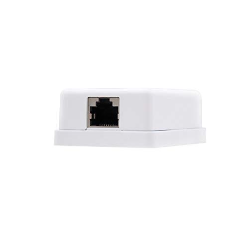Nano Cable 10.21.1601 - Roseta de Superficie RJ45 con 1 Toma de conexión Cat.6 FTP, Blanco