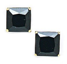 14ct oro amarillo negro de 7 x 7 mm con...