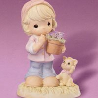 Precious Moments March Violet Modest Retired 101518 by Enesco