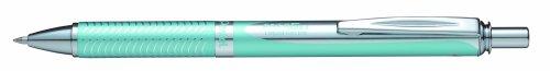 Pentel BL407LS-A - Penna roller EnerGel Sterling con inchiostro gel, superficie fusto blu opaco, tratto da 0,35 mm, punta da 0,7 mm, nero
