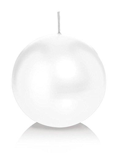 Bougie ronde 6 Ø 80 mm Blanc, Brûler temps en heures 25, Bougies pour l'événement, partie, occasion, baptême, mariage, Avent, Noël, décoration