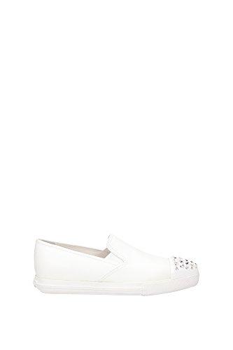 Sneakers Miu Miu Donna Pelle Bianco 5S9990BIANCO Bianco 37.5EU