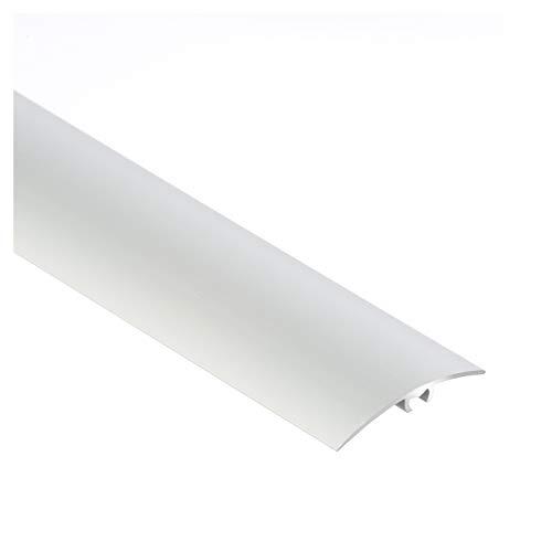 Aluminium-Türschwelle | Übergangsprofil | Schutzleiste | Übergangsschiene mit Befestigungsstifte |40 x 1000 mm | Silber