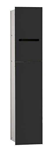emco asis WC-Modul 2.0, rechts UP, 811mm, ohne Einbaurahmen, Schwarz