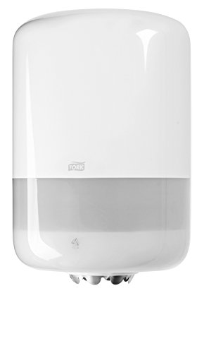 Tork 559000 Innenabrollungsspender für M2 Papierwischtücher im Elevation Design / Wischtuchspender für hygienische Einzeltuchentnahme in Weiß