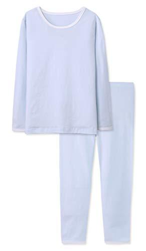 ABClothing Kid Boys alle in Einer Union Winter warme thermische Unterwäsche Kessel Anzug für große Kinder blau 10 Jahre 11 Jahre alt (Kessel Kinder Anzug)