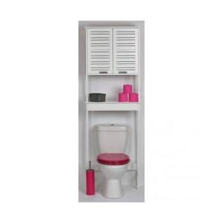21gaznydHBL. SS324  - TENDANCE Mueble para baño WC - 2 puertas y 1 estante - Diseño puro y sencillo