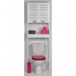 Mueble para baño WC - 2 puertas y 1 estante - Diseño puro y sencillo