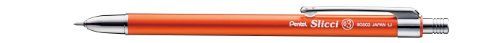 Pentel Slicci Techo Mini Gel Ink Pen - 0.3 mm - Orange Body - Black Ink