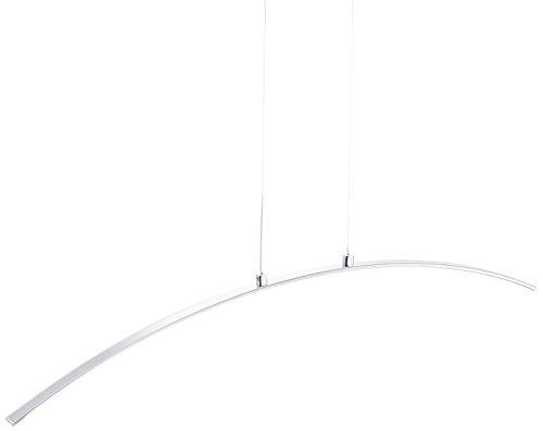 LeuchtenDirekt Pendelleuchte, 1 x LED-Board / 12 W / 3000 K, Innenleuchte, IP20, chrom 11552-17