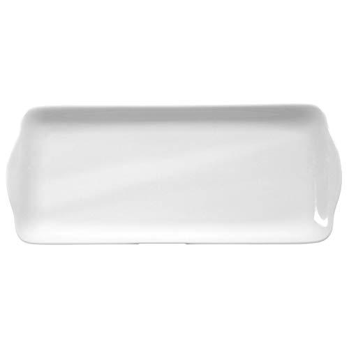 Seltmann Weiden 001.216302 Rondo - Kuchenplatte - Servierplatte - weiß - eckig - Ø 35 cm