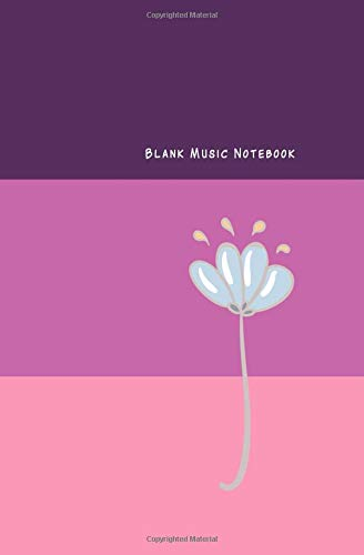 Blank Music Notebook: Music Manuscript Line Paper for Notes /Ruled Paper and Staff, Lyrics, Musicians, Composition Notebook (12 Staves per page) Pink Tone Theme Corporation Notebook