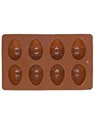 Richohome 8-Cavity Ei Form Kuchen Form Kuchen, Pfanne Antihaft-Silikon-Backform für Seife, Schokolade, Cookies, Käsekuchen, Gelee, Muffin, Brot, und/3Pack (Kuchen-ei-pfanne)