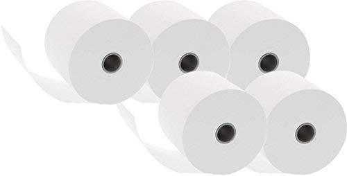 10x 5 Additionsrollen (Ersatz-Papierrollen, geeignet für Kassen und druckende Tischrechner, 40 lfm, 100% Holzfrei, 57 x 12 mm, 50 Rollen)