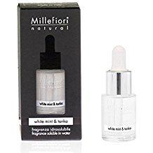 Fragranza idrosolubile Millefiori collezione Natural White Mint & Tonka 15ml  da utilizzare con diffusore di fragranza per ambiente ad ultrasuoni Millefiori Hydro