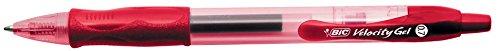 Penna a sfera a scatto velocity gel bic - rosso - 829159