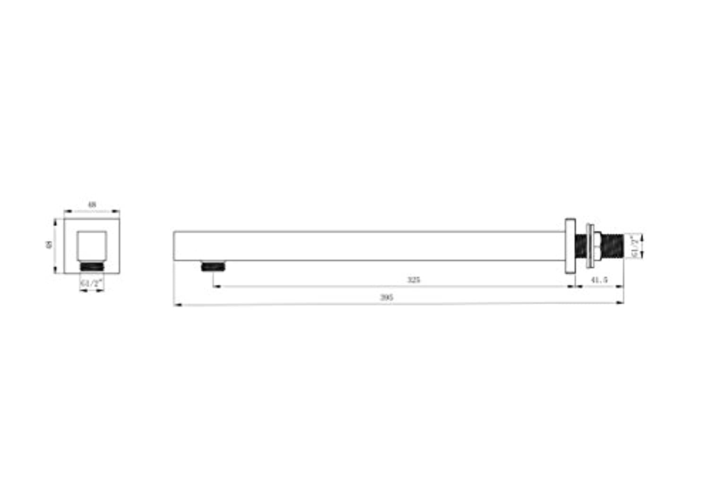 Carr/é Mitigeur thermostatique de douche encastr/é 3/Poign/ée 2/voies Augmentant la pluie Drench kit