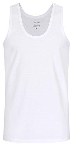 UnsichtBra Herren 4-er Pack Herren Tank Top Classic Unterhemd (4 x Weiss, 2XL)