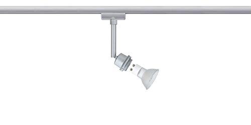 Paulmann 95182 URail Schienenleuchte System DecoSystems LED Spot 1x3,5W GZ10 230V Chrom Metall Stromschienensystem, Silber, 20 x 20 x 30 cm