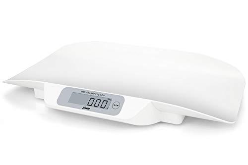 Alecto Baby BC-30 Babywaage digital, für Babys und Kleinkinder bis max. 20 kg mit Stabilisierungssystem und bis zu 5 Gramm genau