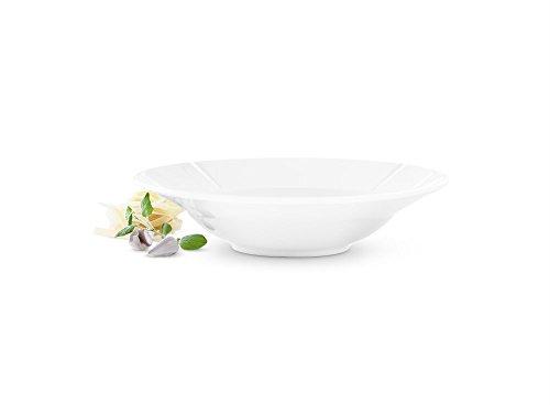 Rosendahl Copenhagen Grand Cru Assiette à Pâtes, Assiette à Spaghetti, Assiette Profonde, Porcelain, Blanc, Ø 25 cm, 20325