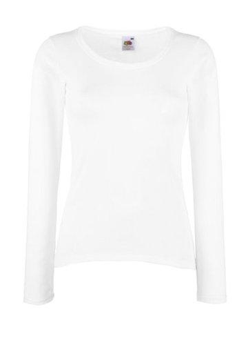 Fruit of the Loom Langärmliges T-Shirt, erhältlich Größen Gr. XS, weiß - weiß