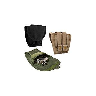 ATG Tactical Single Handcuff Pouch MOLLE PALS PVC Black (Black)