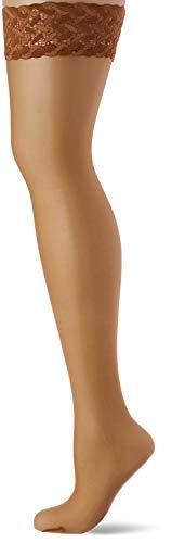 FALKE Damen Stay-Ups Shelina 12 Denier, 1 Paar, versch. Farben, Größe  S-L - Ultra-transparent, Rutschsicher durch Silikonbeschichtung, Schmale, feminine Zierspitze