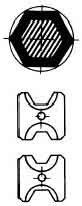 WEIDMULLER - MATRIZ EXAGONAL 25+50MM2 MTR110