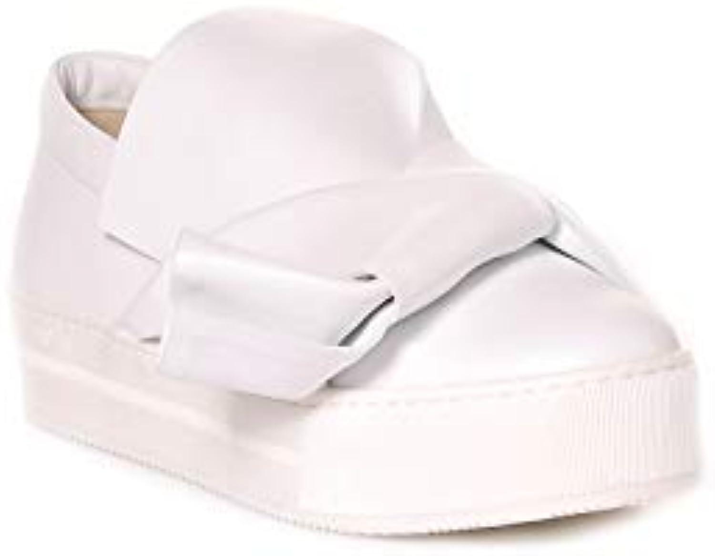 N. 21 21 21 Slip On scarpe da ginnastica Donna 8006bianca Gomma Bianco   Meraviglioso  538dbf