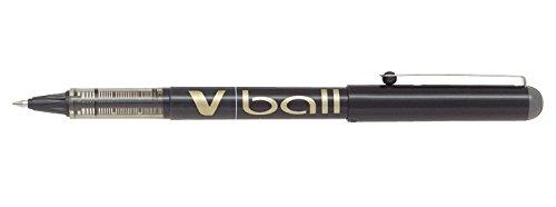 Pilot V-Ball Tintenroller (Flüssigtinte, Spitze 0,7 mm) 12 Stück schwarz