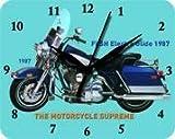 Orologio da parete 20x 25cm Surpreme Motorcycle Blu Targa in orologio Clock