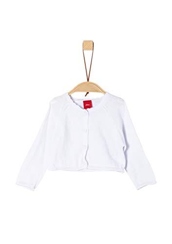 s.Oliver Baby-Mädchen 59.902.64.8699 Strickjacke, Weiß (White 0100), (Herstellergröße: 92) - Wolle Rüschen Cardigan