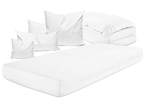 npluseins allergendichter Zwischenbezug - optimal Schutz & Schlafkomfort 337.374, Spannbetttuch 140 x 200 x 20 cm