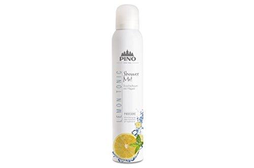 PINOFIT Shower ME! Duschschaum 200ml Dose incl. 2 Waschhandschuhe von carmesin.com (Lemon Tonic) -